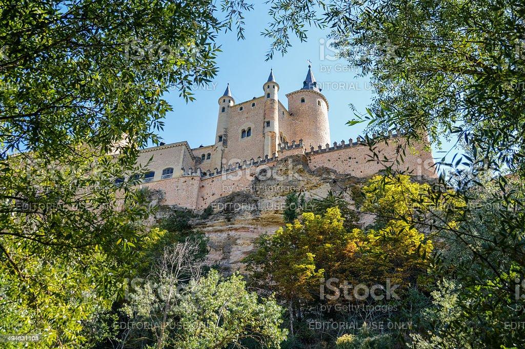 Segovia, Spain - Alcazar Castle stock photo
