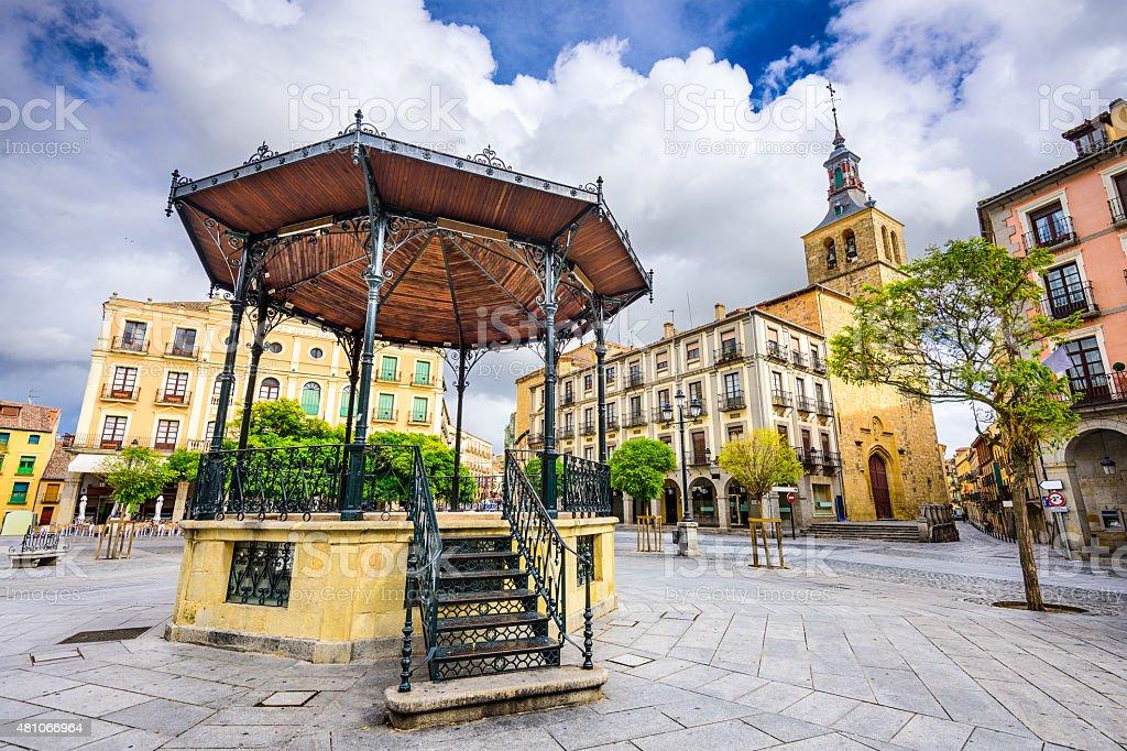 Segovia Spain Courtyard stock photo