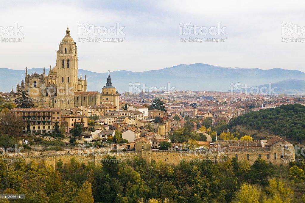 Segovia view royalty-free stock photo