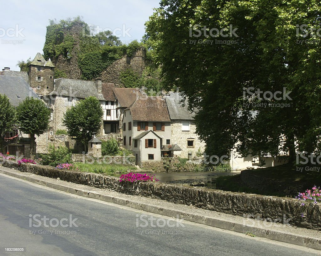 Segur-le-Chateau stock photo