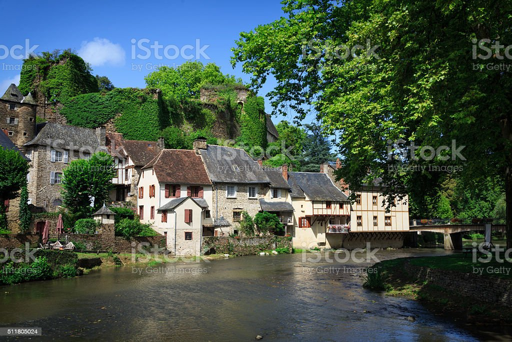 Segur-le-Chateau, medieval village in France stock photo