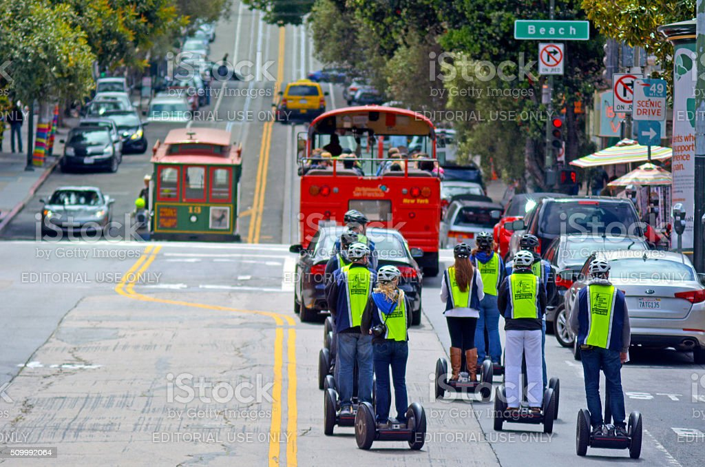 Segway PT tours in San Francisco - California stock photo