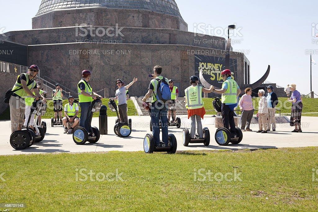 Segway sightseeing tour royalty-free stock photo