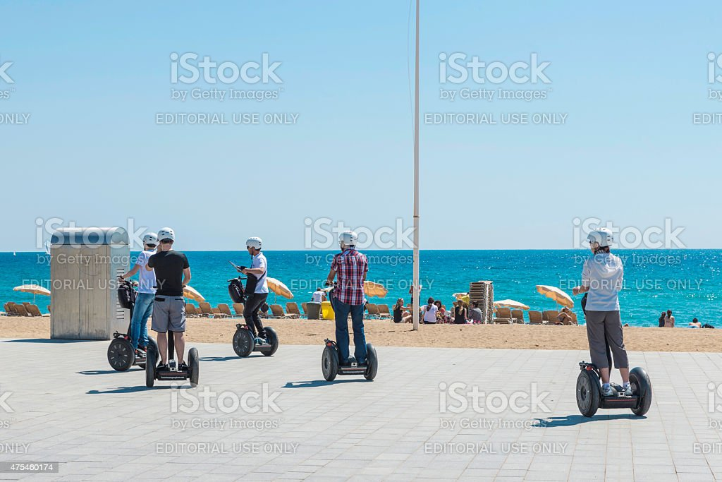 Segway tour Barcelona stock photo