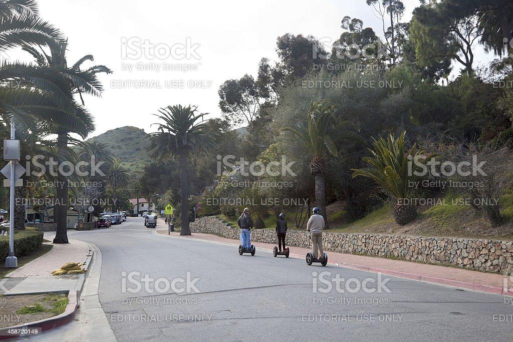 Segway Tour in Avalon, Catalina Island stock photo