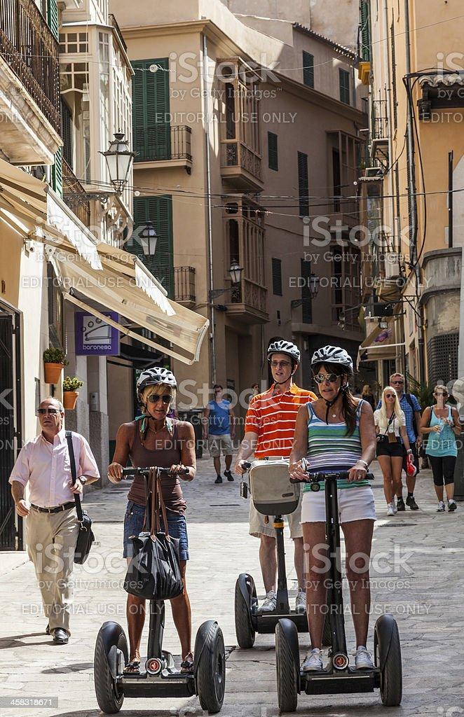 Segway Tour in Palma de Mallorca royalty-free stock photo