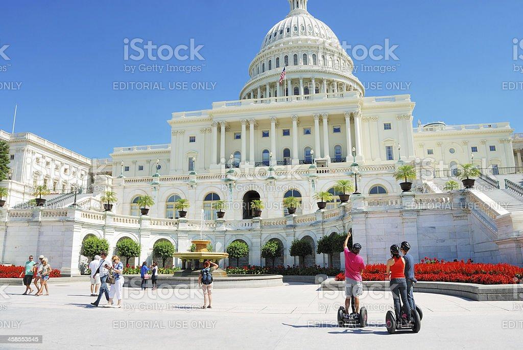 Segway tourists near Capitol Building in Washington, DC, USA royalty-free stock photo