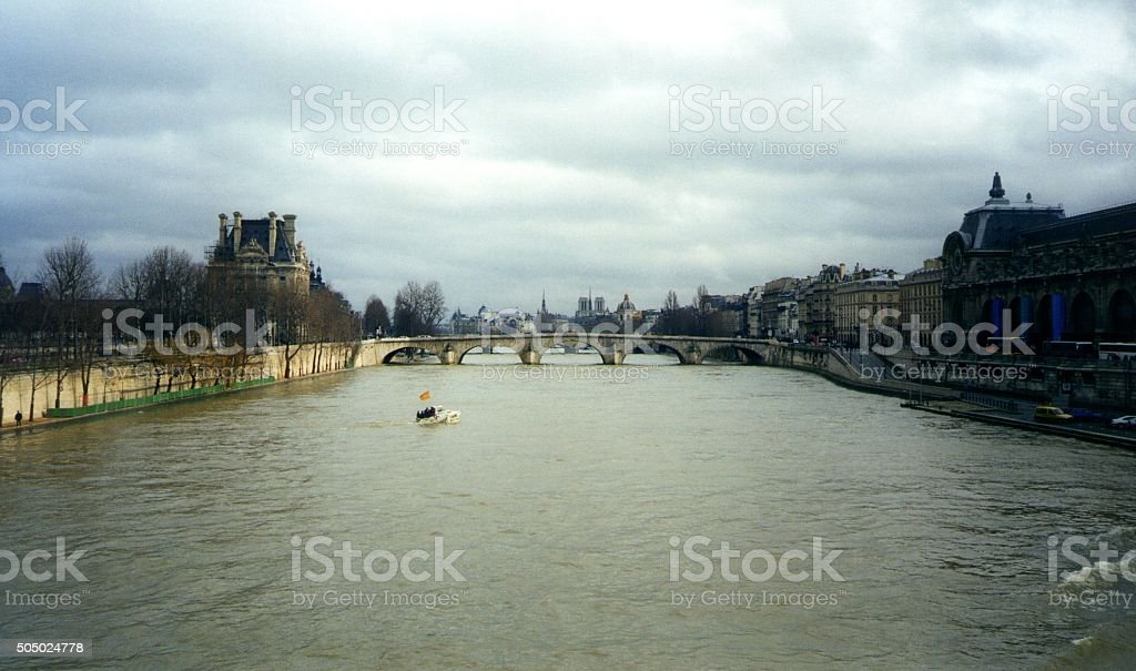 Seine in Paris stock photo