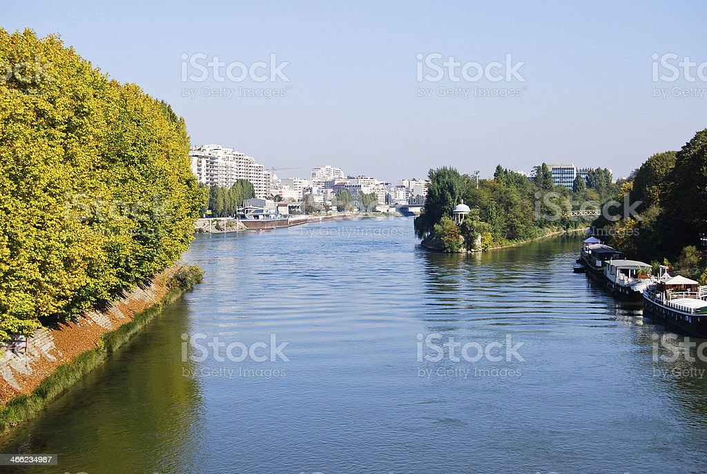 Seine river in Paris, France royalty-free stock photo