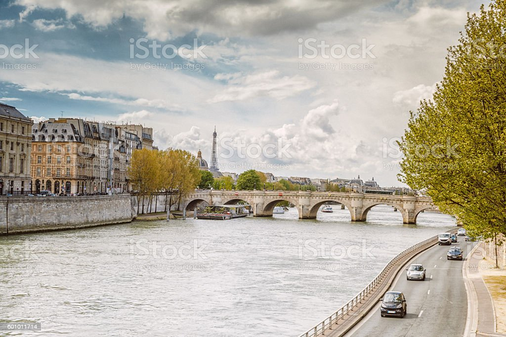 Seine River, Paris stock photo