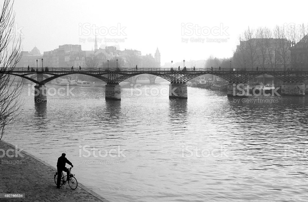 Seine River-Paris stock photo