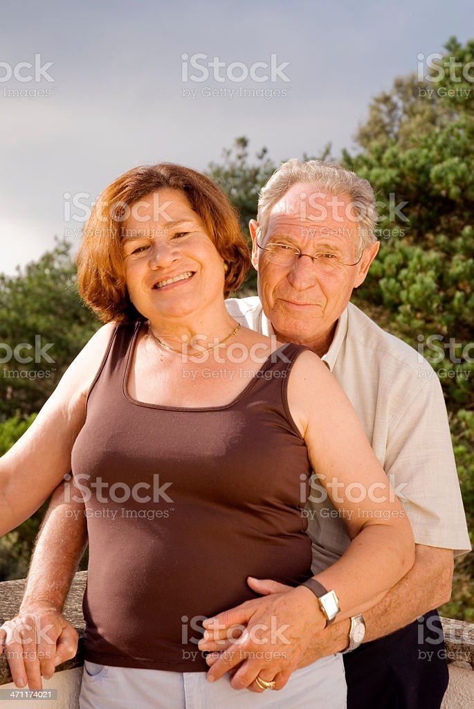 Seior couple royalty-free stock photo