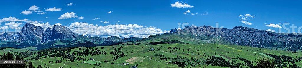 Seiser Alm in South-Tirol stock photo