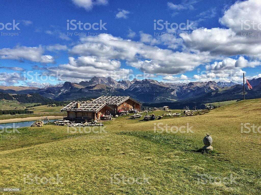 Seiser Alm stock photo