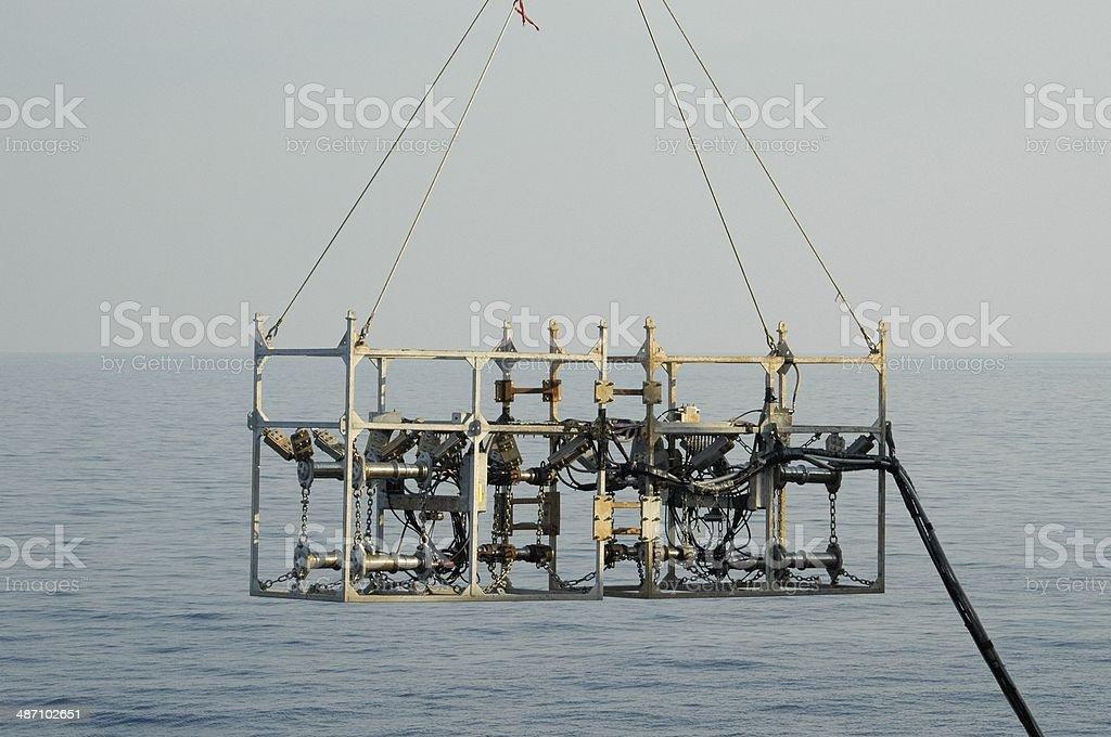 seismic airgun array stock photo