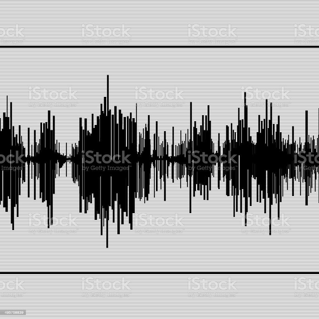 Seismic  diagram stock photo