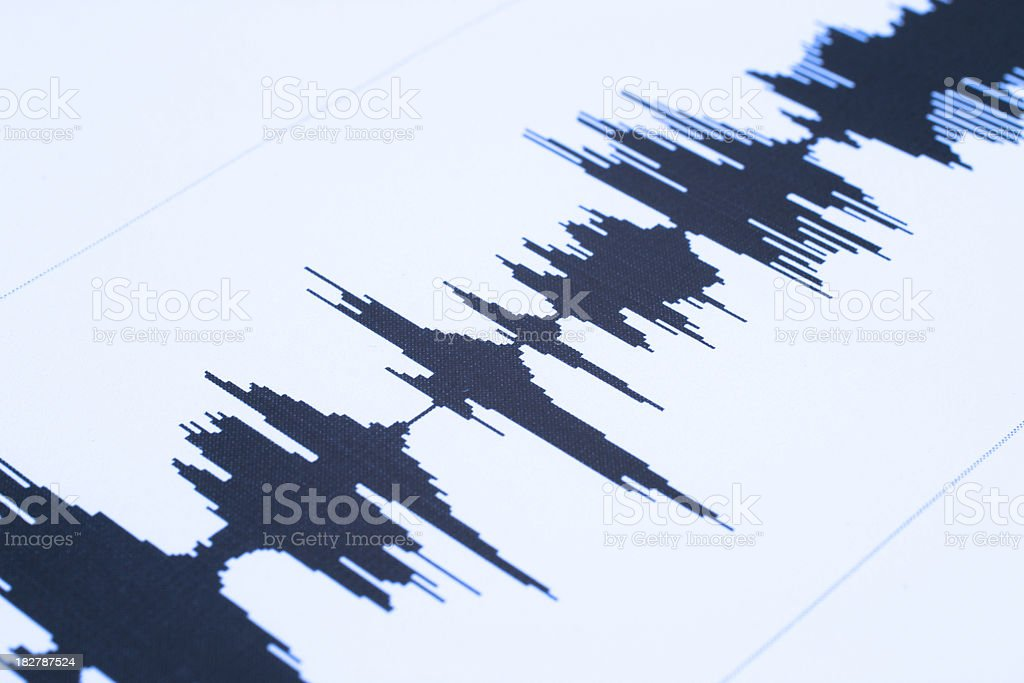 Seismic  sound wave stock photo