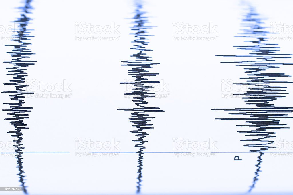 Seismic  sound wave royalty-free stock photo
