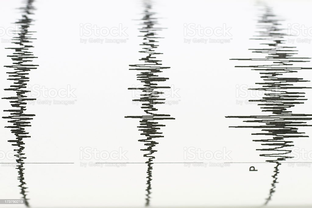 seismic wave stock photo