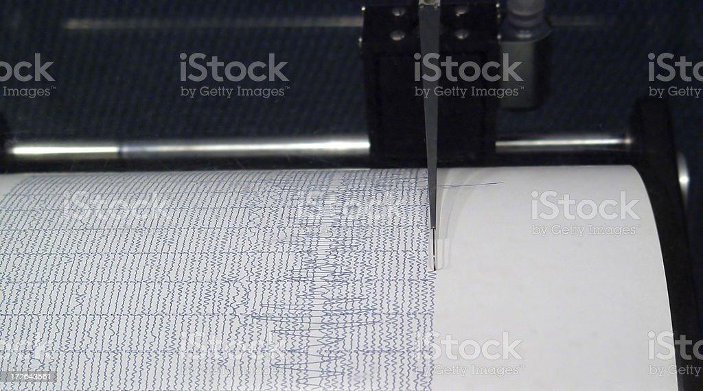 Seismogragh stock photo