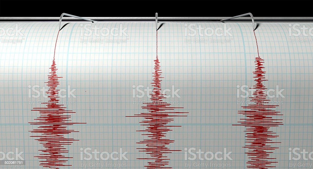 Seismograph Earthquake Activity stock photo