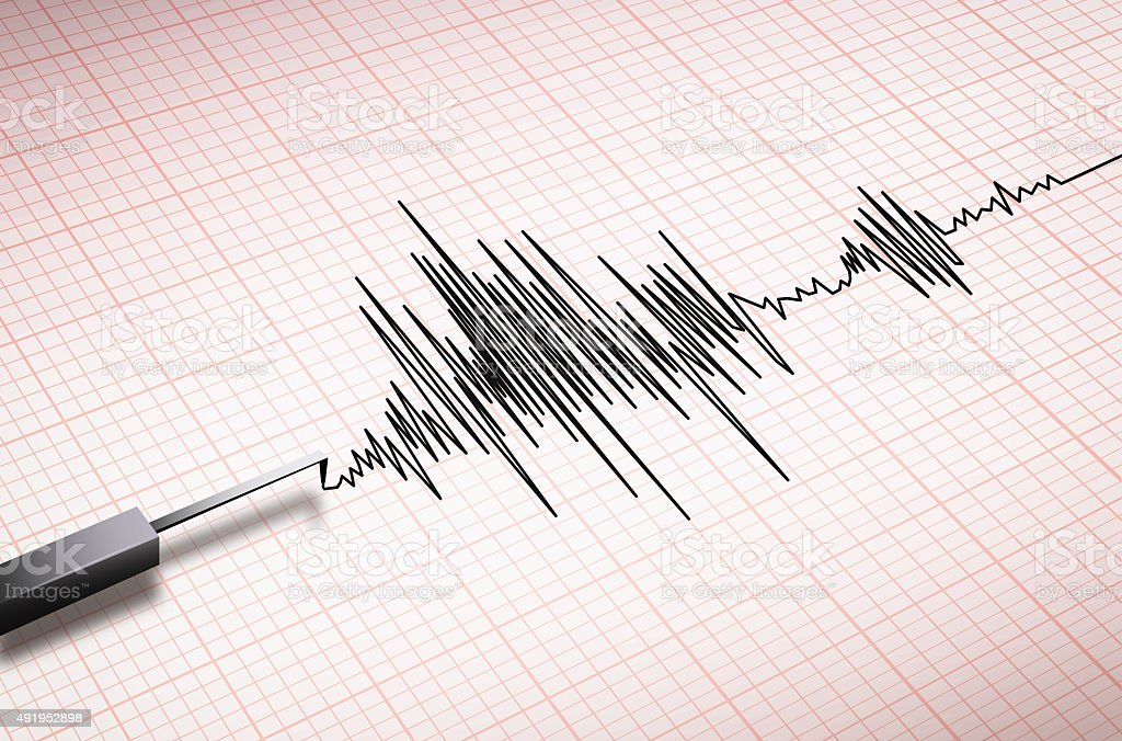 seismograph machine earthquake stock photo