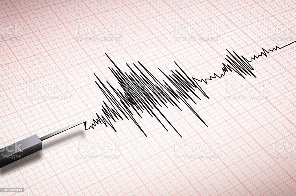seismograph machine earthquake stock photo