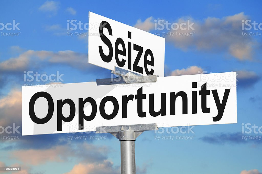 Seize Opportunity Street Sign royalty-free stock photo
