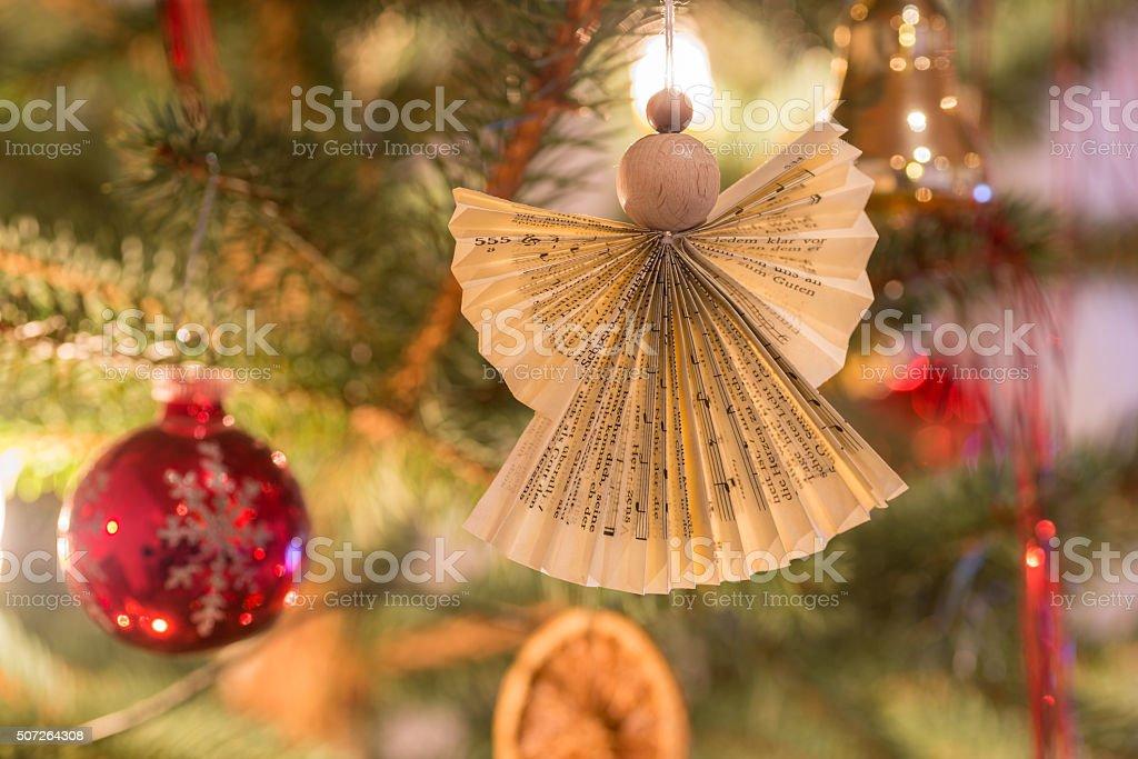 Selbst gestalteter Weihnachtsengel stock photo