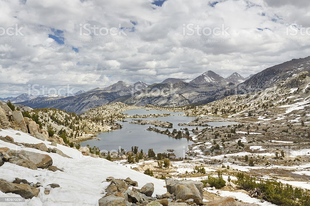 Selden Pass in the Sierra Nevada stock photo