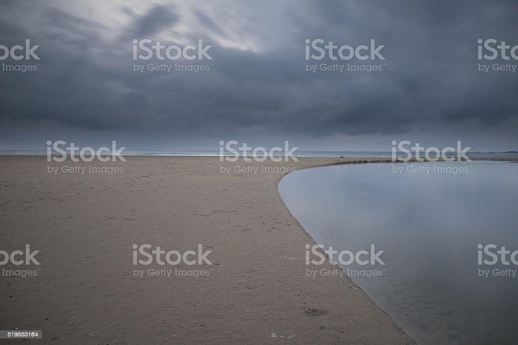 Sele beach stock photo