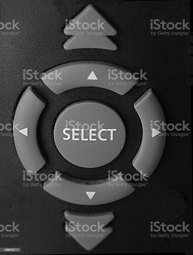 Select Button and Menu from Remote Control royalty-free stock photo
