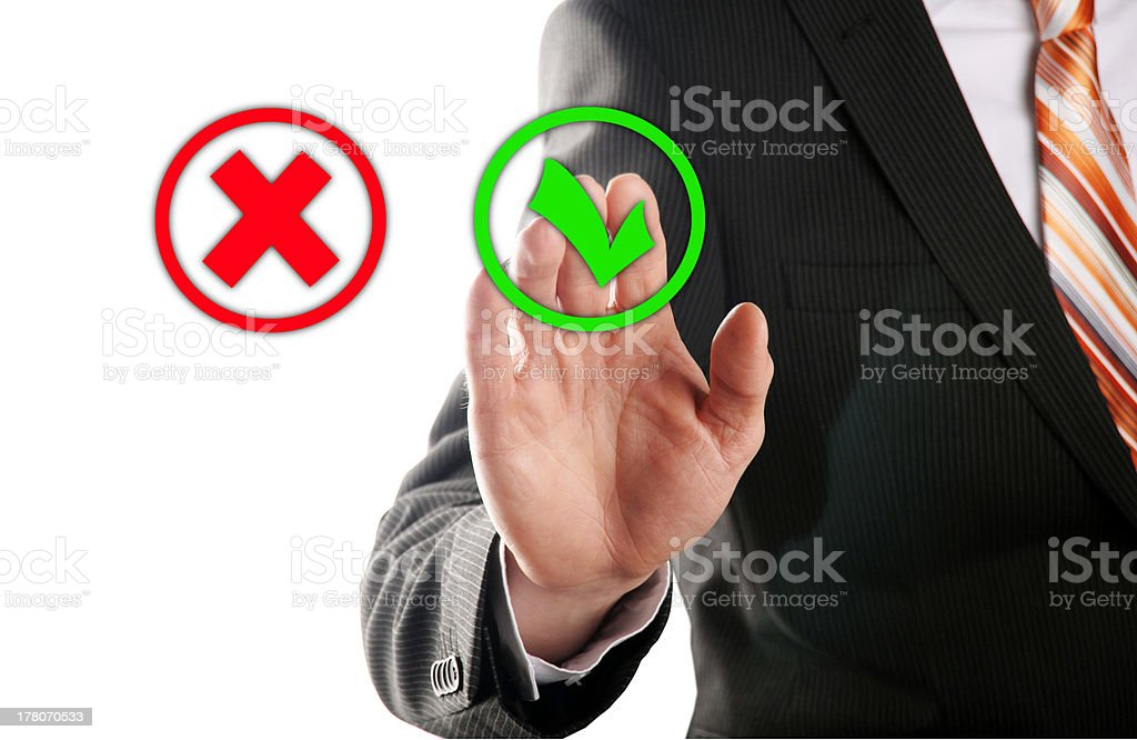 select the button right royalty-free stock photo