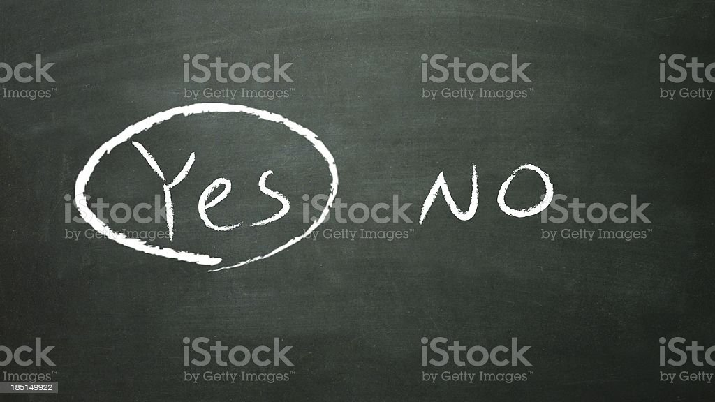 select yes royalty-free stock photo
