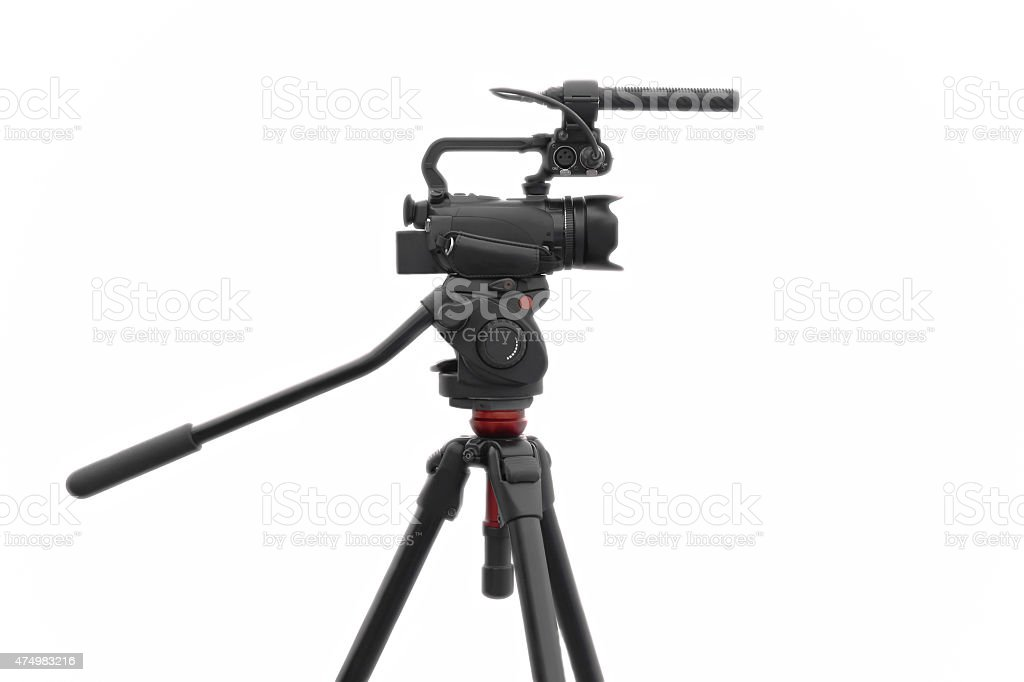 Selected focus camcorder stock photo