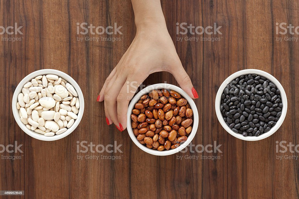 Selecting beans royalty-free stock photo