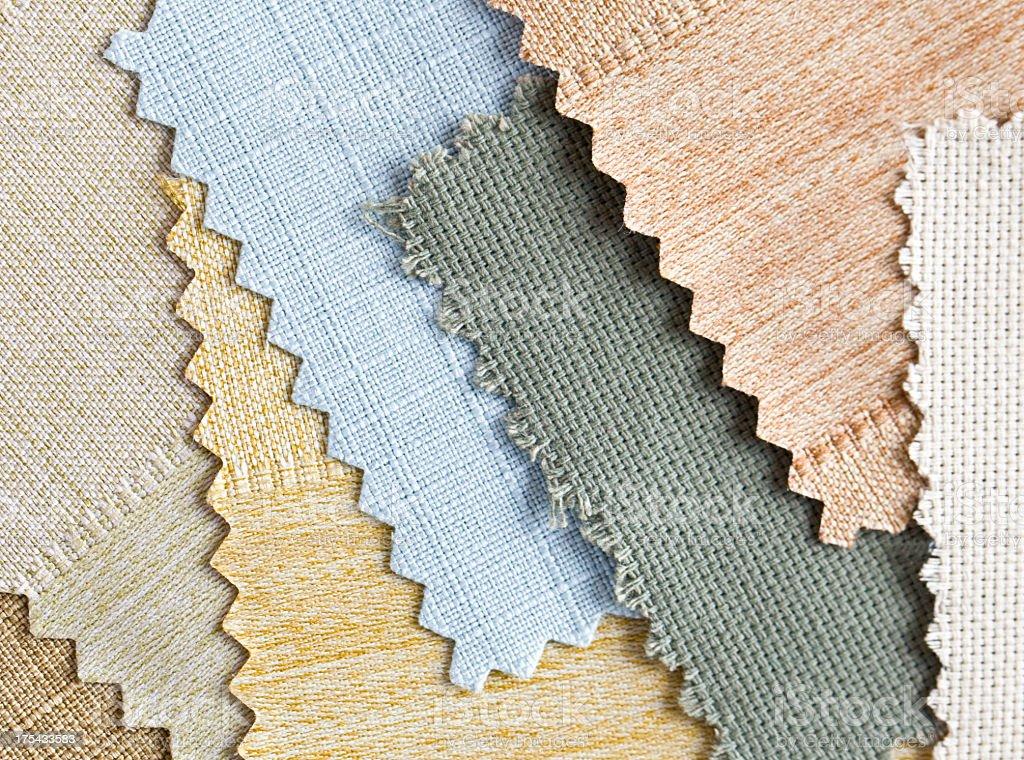 Selecting fabrics royalty-free stock photo