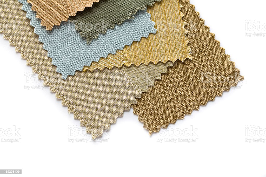Selecting fabrics royalty-free stock photo