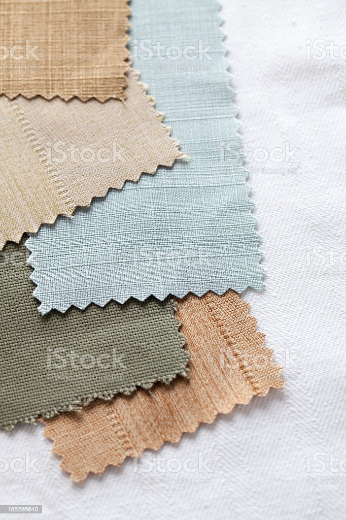 Selecting fabrics stock photo