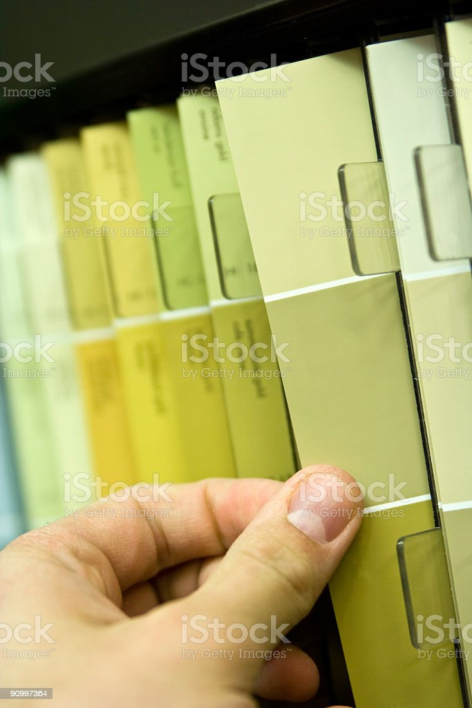 Selecting Paint Colors royalty-free stock photo