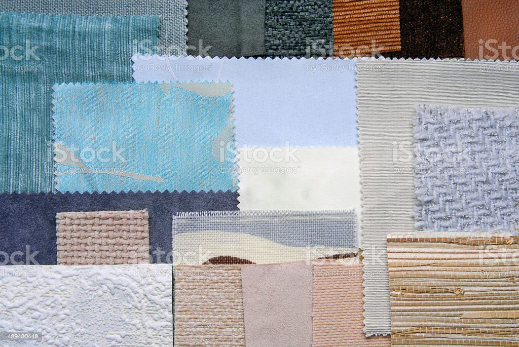 selection color for interior decorating stock photo