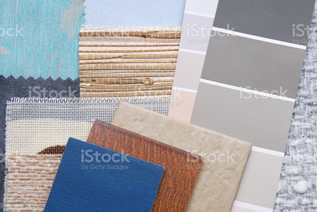 selection color for interior stock photo