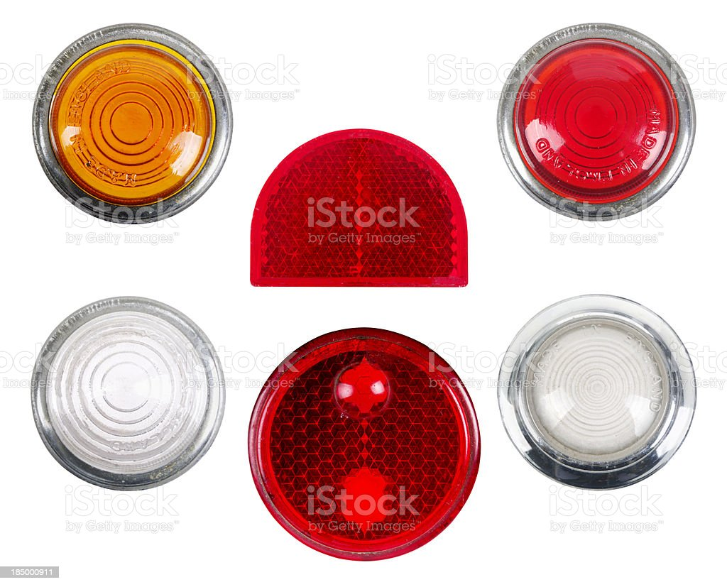 Selection Of 1950s or 1960s Vehicle Lights stock photo
