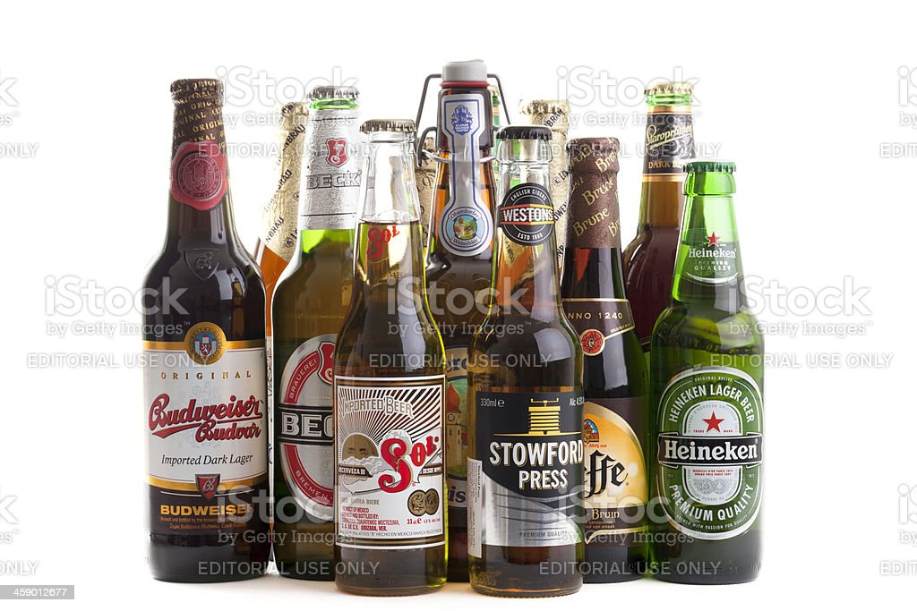Selection of Beers stock photo