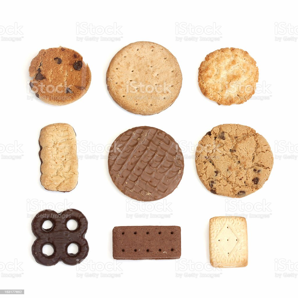 selection of biscuits stock photo