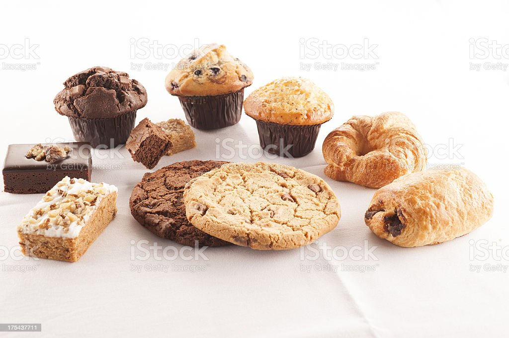 Selection of cakes and pastries stock photo