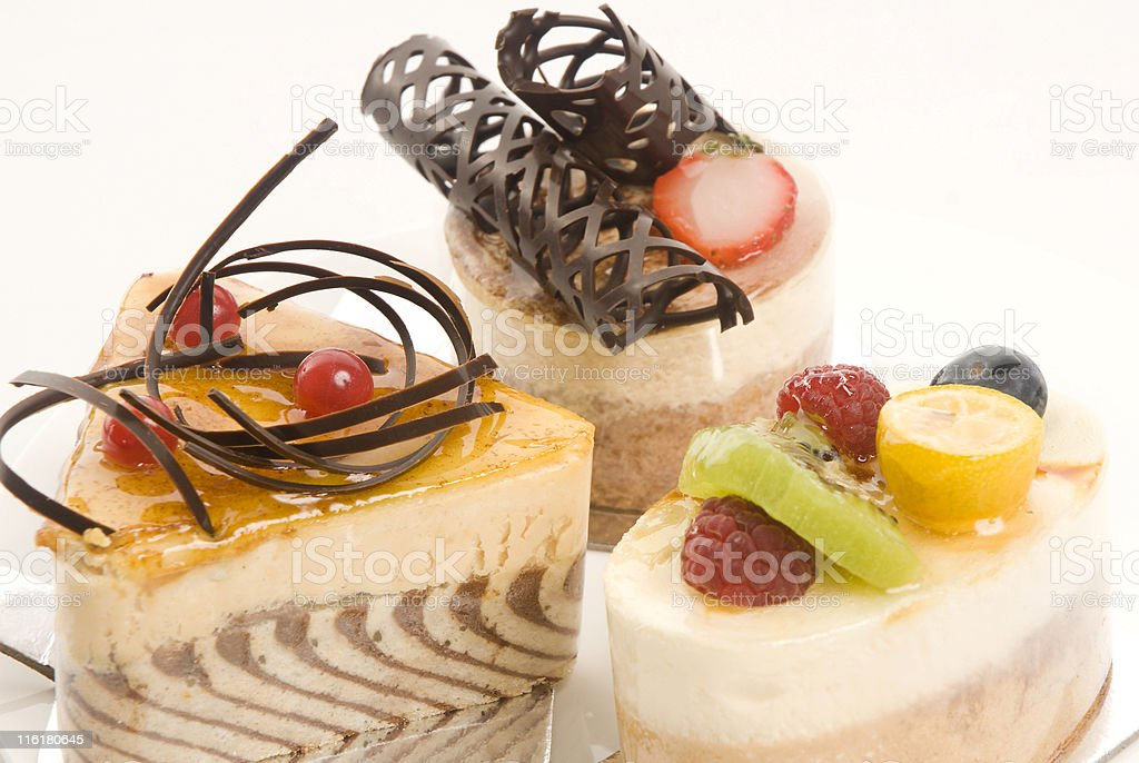 Selection of cakes royalty-free stock photo