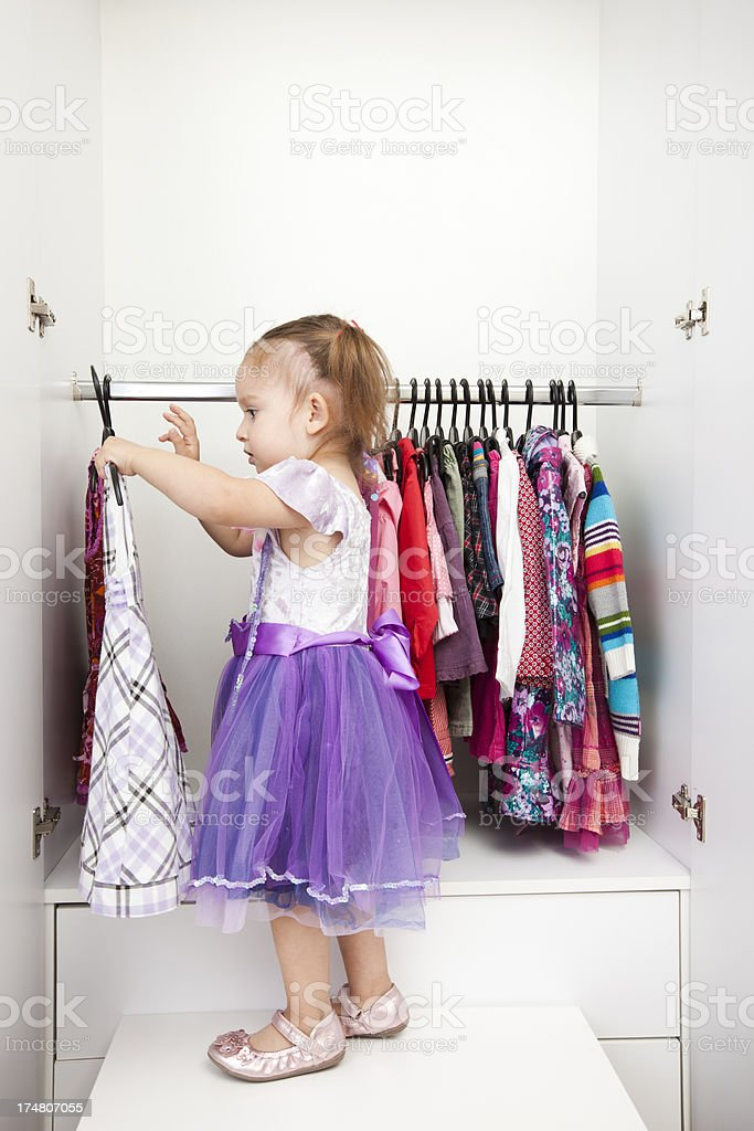 selection of children's clothes royalty-free stock photo