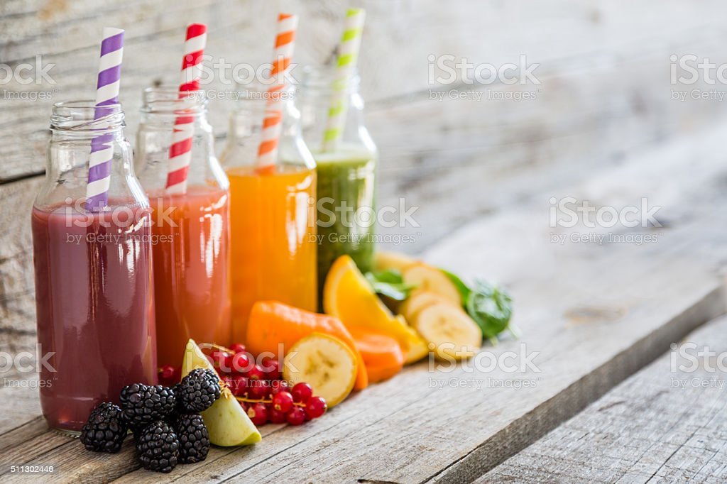 Sélection de couleurs des smoothies - Photo