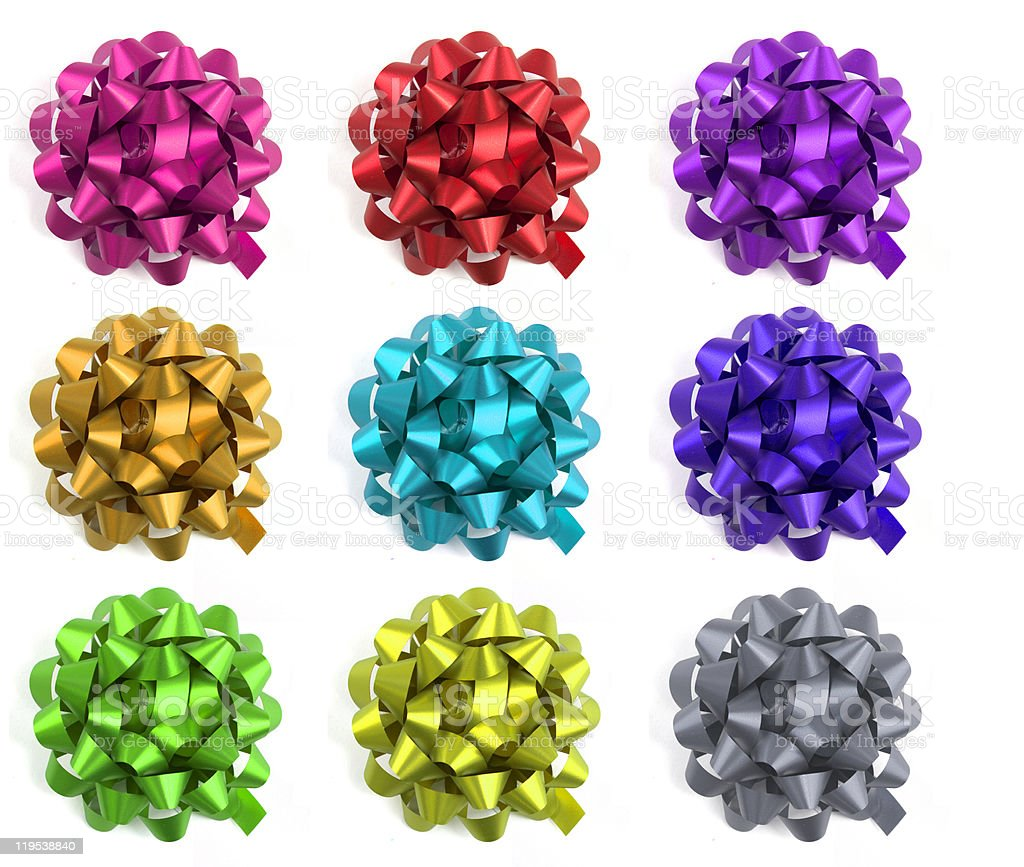 Selection of colourful bows royalty-free stock photo